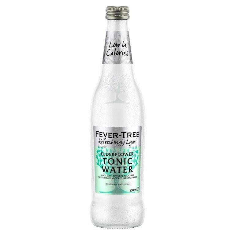 Fever-Tree Refreshingly Light Elderflower Tonic Water Glass 500ml