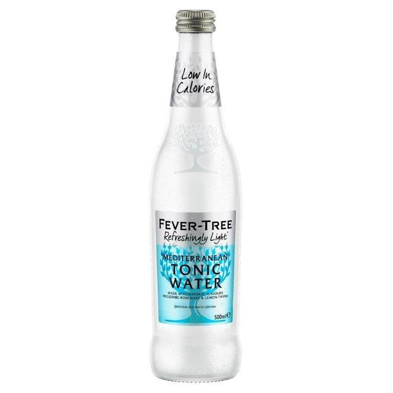 Fever-Tree Refreshingly Light Mediterranean Tonic Water Glass 500ml
