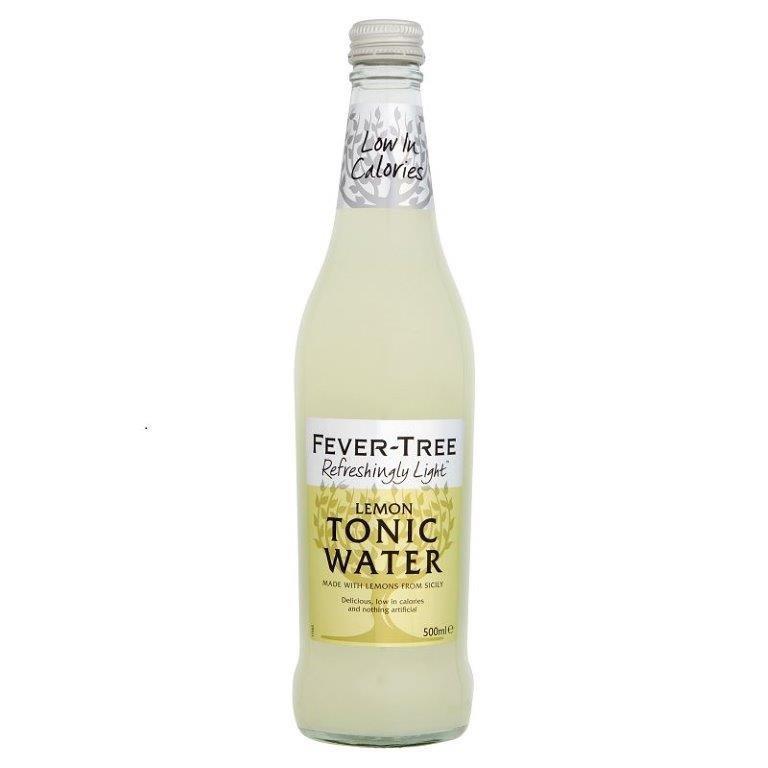 Fever-Tree Refreshingly Lemon Light Tonic Water Glass 500ml
