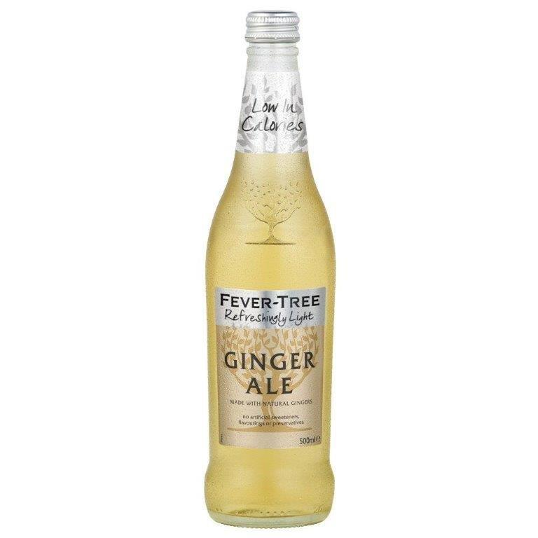 Fever-Tree Refreshingly Light Ginger Ale Glass 500ml
