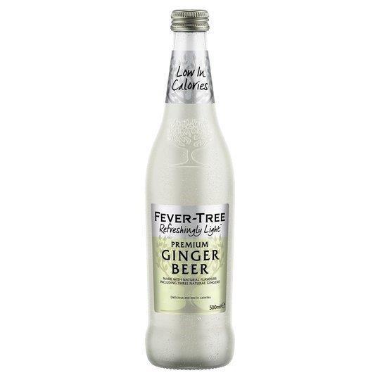 Fever-Tree Refreshingly Light Ginger Beer Glass 500ml