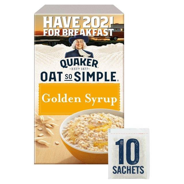Quaker Oat So Simple Golden Syrup 10pk (10 x 36g)