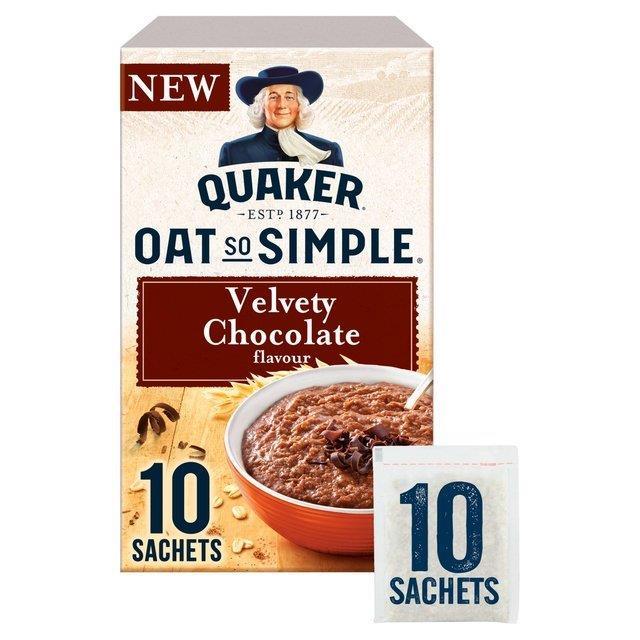 Quaker Oat So Simple Velvety Chocolate 10pk (10 x 36.5g)
