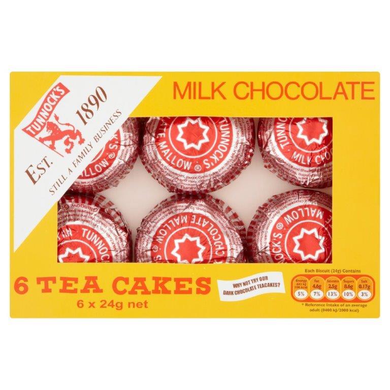 Tunnock's Tea Cakes 6pk (6 x 24g)