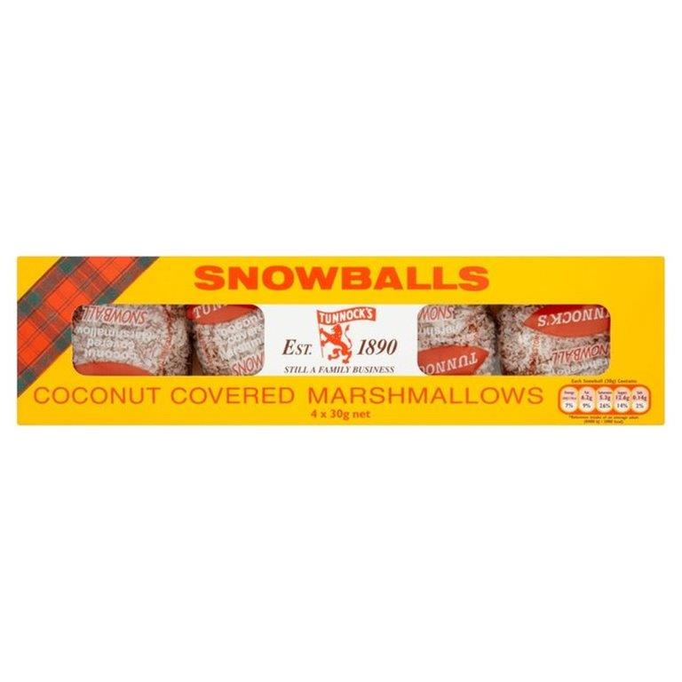 Tunnock's Marshmallow Snowball 4pk (4 x 30g)