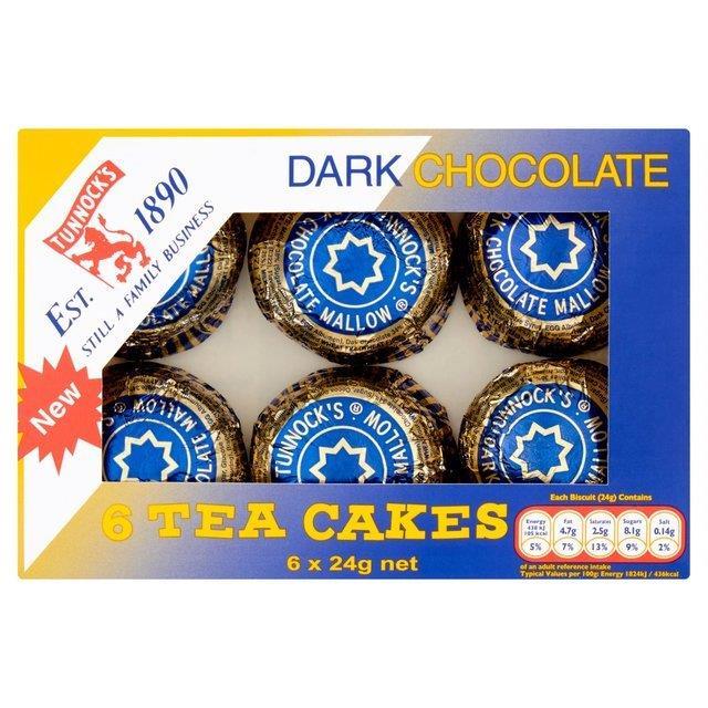 Tunnock's Tea Cakes Dark Chocolate 6pk (6 x 24g)