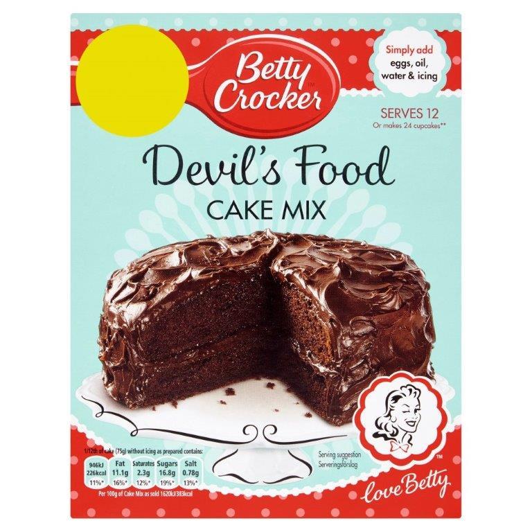 Betty Crocker Devils Food Cake Mix 425g PM £2.49