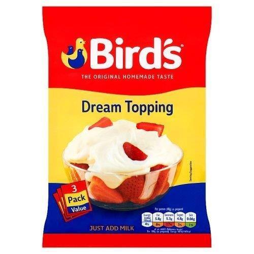 Bird's Dream Topping Sachets 3pk (3 x 36g)