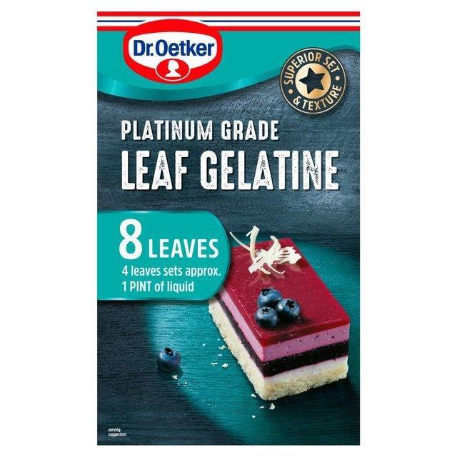 Dr. Oetker Platinum Grade Leaf Gelatine 13g