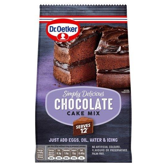 Dr. Oetker Simply Delicious Chocolate Cake Mix 425g