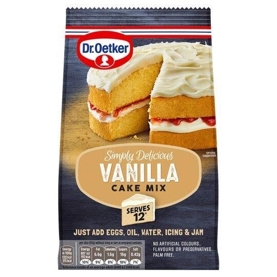 Dr. Oetker Simply Delicious Vanilla Cake Mix 420g