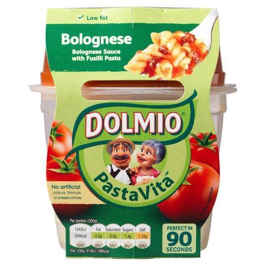 Dolmio Pasta Vita Fusilli Bolognese Sauce 300g