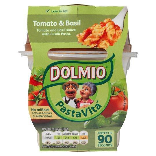 Dolmio Pasta Vita Tomato & Basil 300g