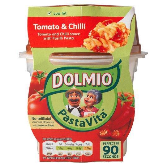 Dolmio Pasta Vita Tomato & Chilli 300g