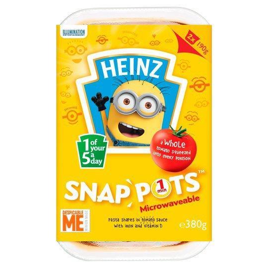 Heinz Snap Pots Duo Minions 2pk (2 x 190g)