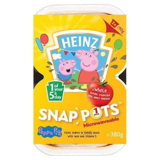 Heinz Snap Pots Duo Peppa Pig 2pk (2 x 190g)