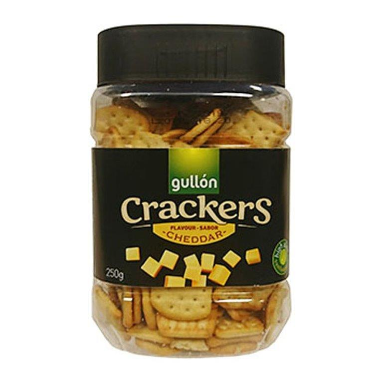 Gullon Cheddar Cheese Crackers Tub 250g