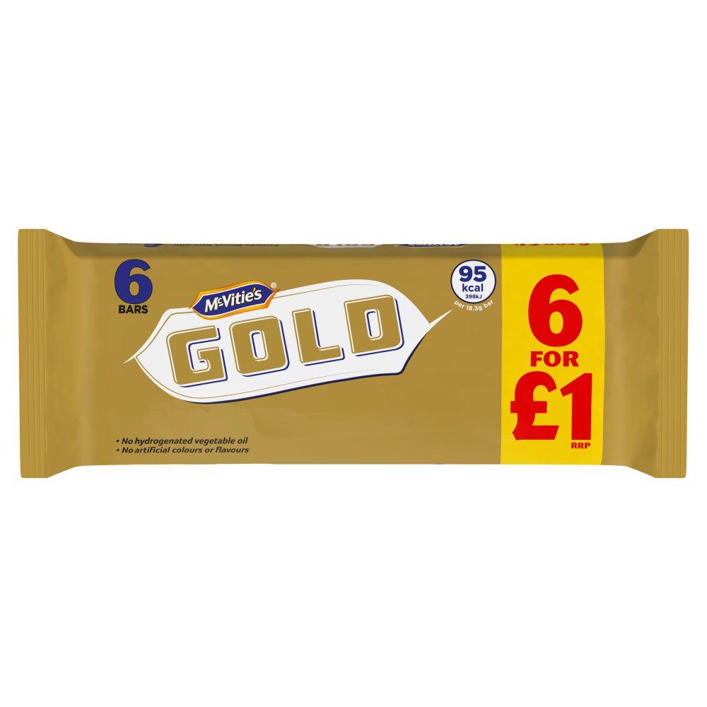 McVitie's Gold 6pk (6 x 17.67g) PM £1