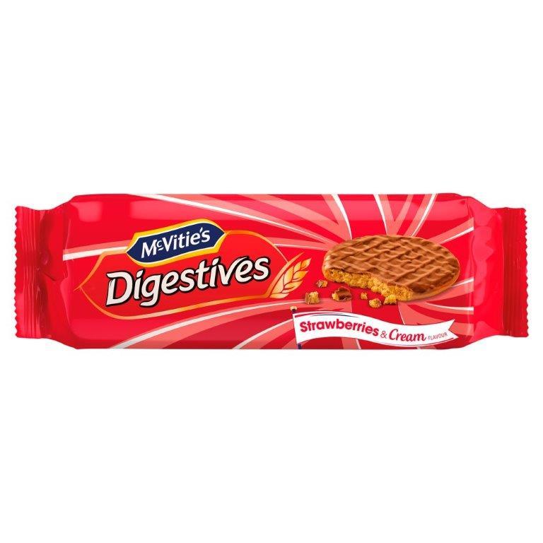 McVitie's Milk Chocolate Digestives Strawberry & Cream 250g