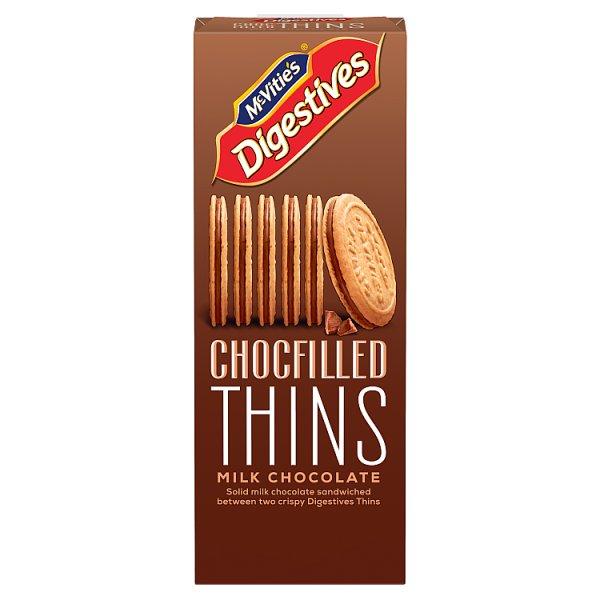 McVitie's Chocfilled Thins Milk Chocolate 130g