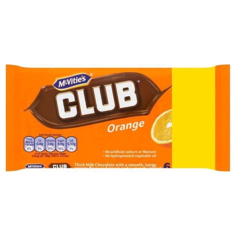 McVitie's Club Orange 6pk (6 x 22g) PM £1