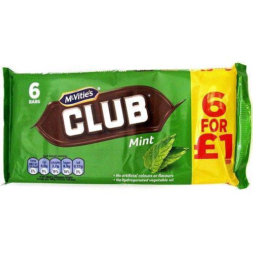 McVitie's Club Mint 6pk (6 x 22g) PM £1