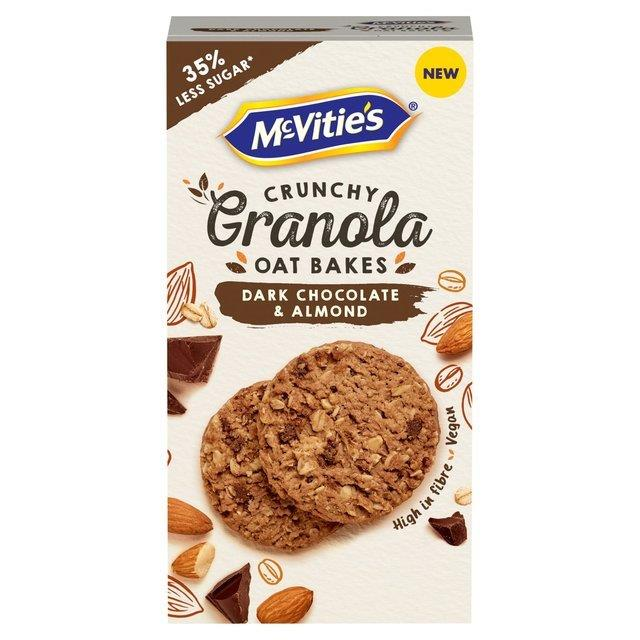 McVitie's Granola Oat Bakes Dark Choc & Almond 140g