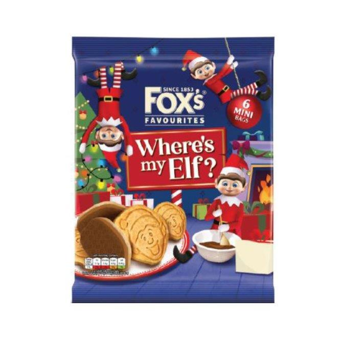 Fox's Mini Half Coated Chocolate Elfy Selfies 6pk (6 x 22g)