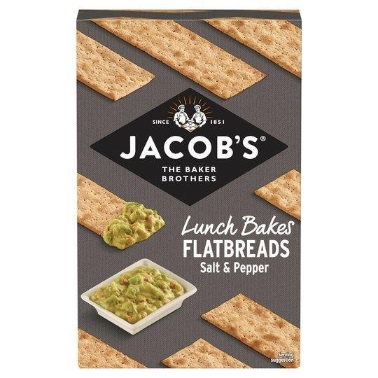 Jacobs Flatbreads Salt & Black Pepper 150g