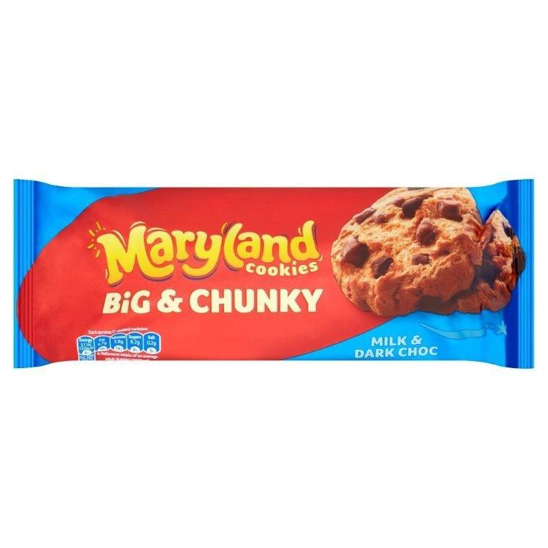 Maryland Big & Chunky Milk & Dark Choc Chip Cookies 180g