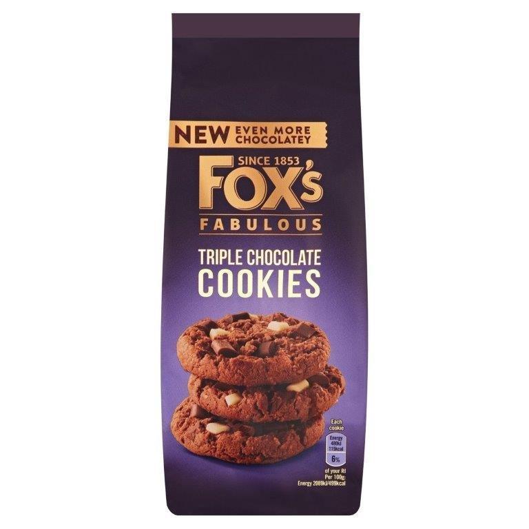 Fox's Cookies Triple Chocolate 180g
