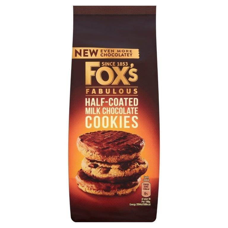 Fox's Cookies Half Coated Chocolate 175g