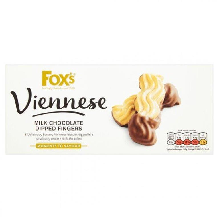 Fox's Viennese Milk Chocolate Dipped Fingers 105g