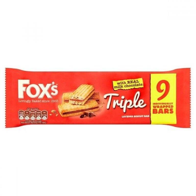 Fox's Triple Layered Biscuit Bar 9pk (9 x 19.8g)