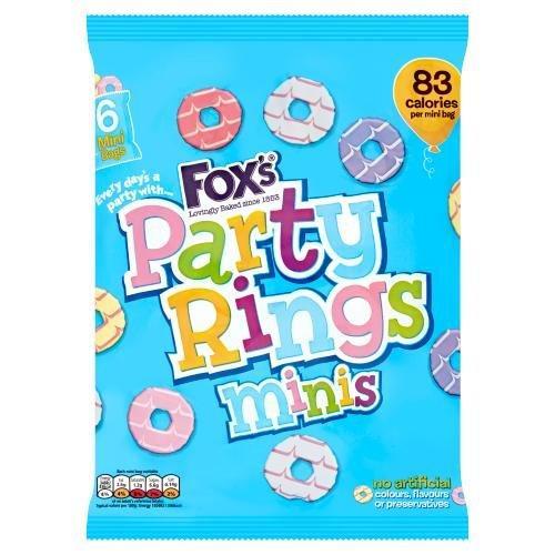 Fox's Party Rings Mini 6pk (6 x 21g)