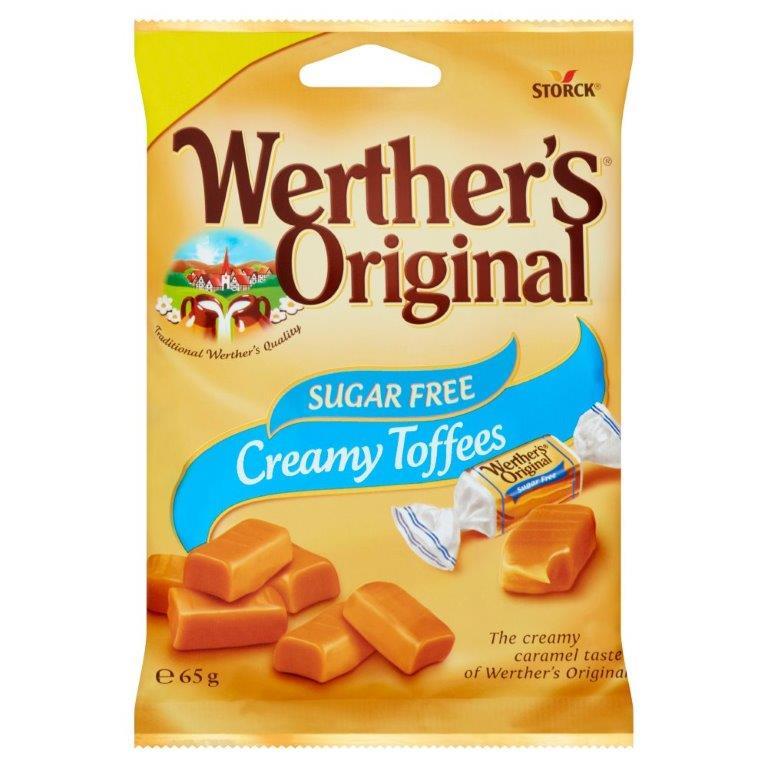 Werther's Original Creamy Toffees Sugar Free 65g PM £1