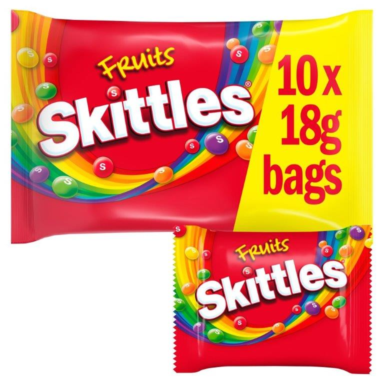 Skittles Fun Size Fruit 10pk (10 x 18g)