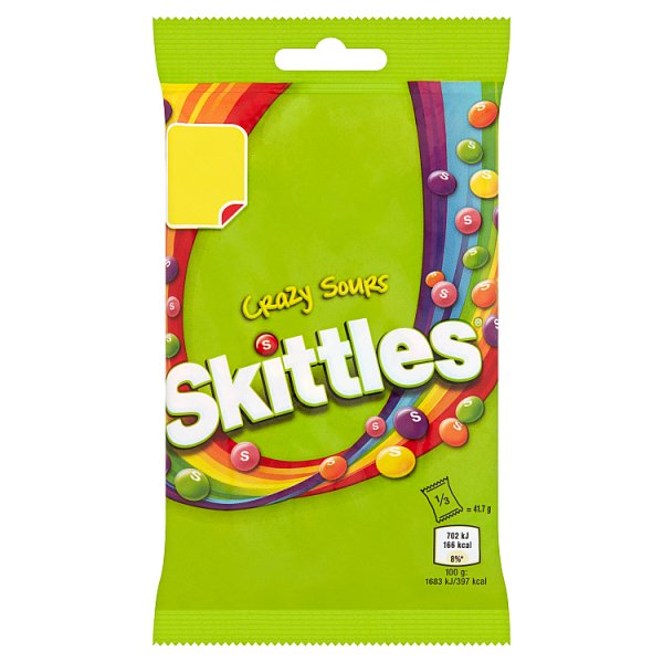 Skittles Bag Crazy Sours 125g PM £1