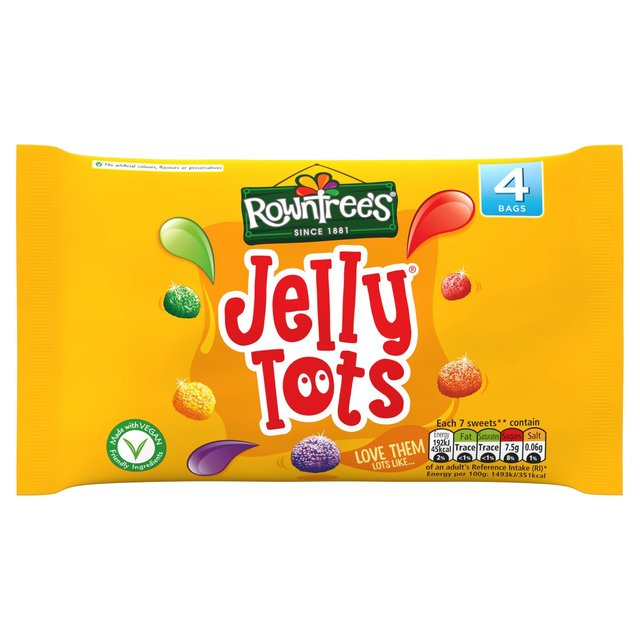 Rowntrees Jelly Tots 4pk (4 x 28g)