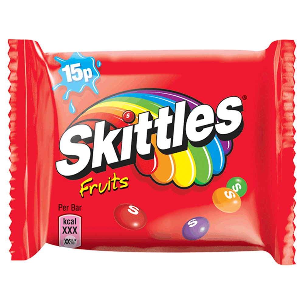Skittles Fun Size Std Bag Fruit 18g PM 15p