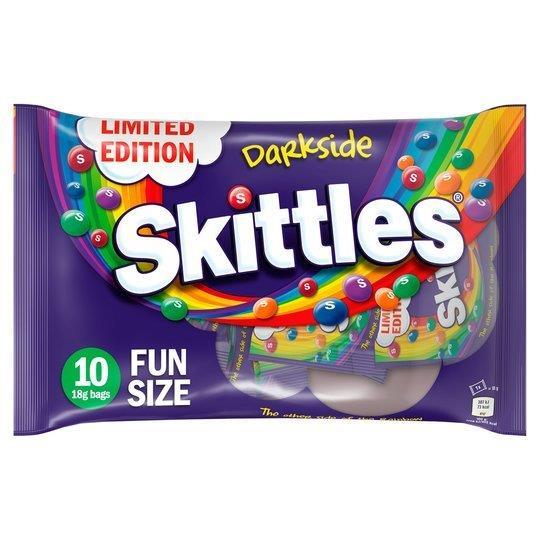 Skittles Fun Size Darkside 10pk (10 x 18g)