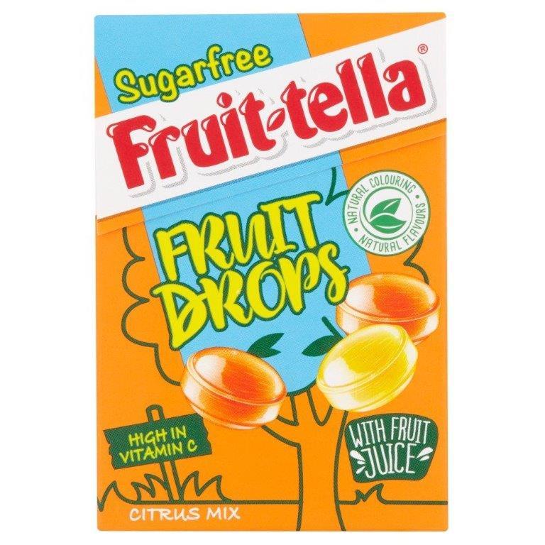 Fruitella Fruit Drops Citrus Mix Sugar Free 46g