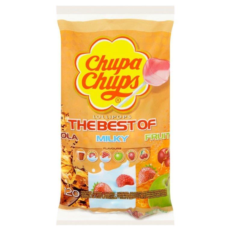 Chupa Chups Refill Bag Variety 120's 20% Free 12g