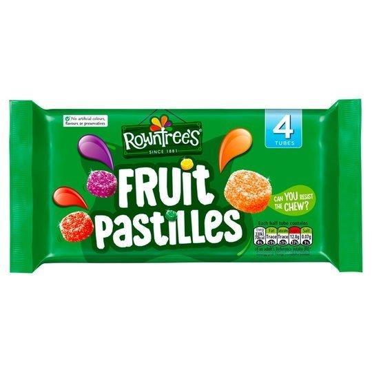 Rowntrees Fruit Pastilles Tube 4pk (4 x 42.8g) (Vegan)
