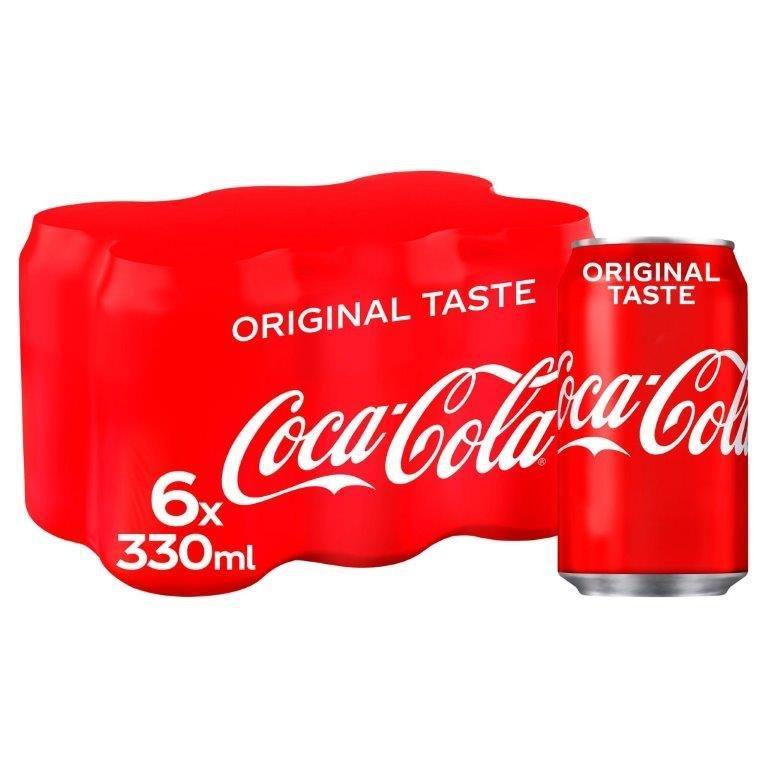 Coca Cola 6pk (6 x 330ml) PM £3.75