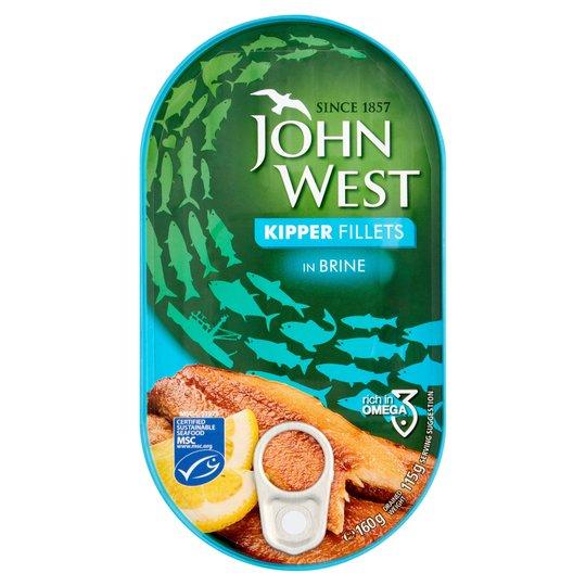 John West Kipper Fillets In Brine 160g