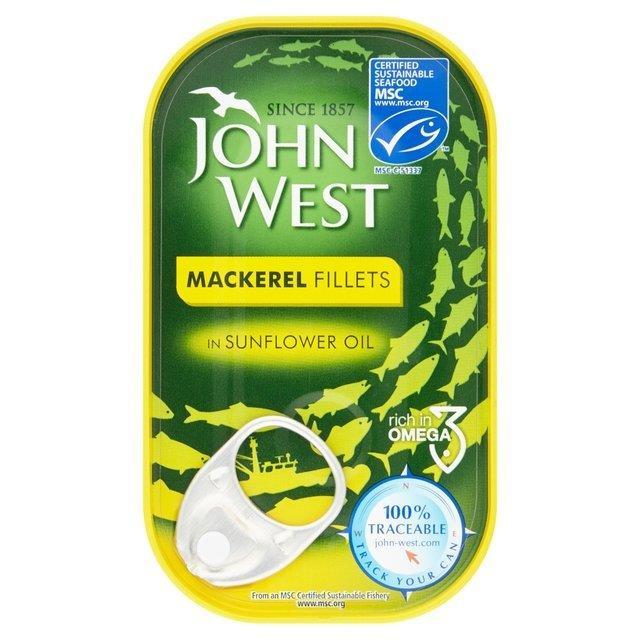 John West Mackerel Sunflower Oil 125g