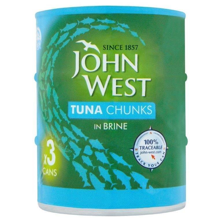 John West Tuna Chunks Brine 3pk (3 x 145g)