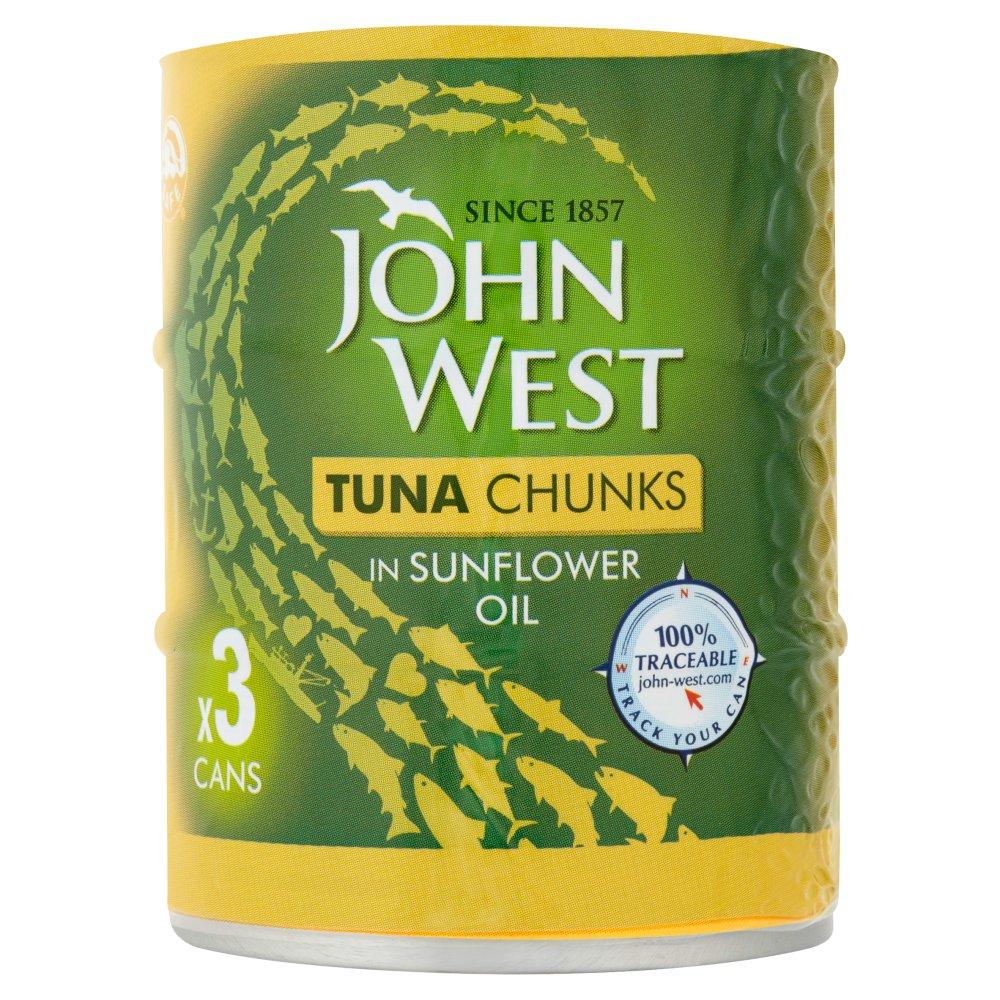 John West Tuna Chunks Oil 3pk (3 x 145g)