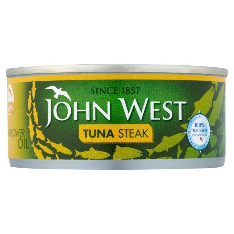 John West Tuna Steak Sunflower Oil 160g